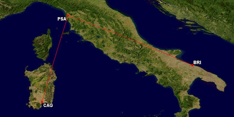 Ryanair fløy passasjer