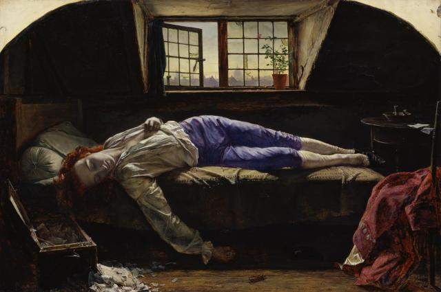 'The Death of Chatterton'. Henry Wallis. Tate Britain, scanned by Google Cultural Institute.