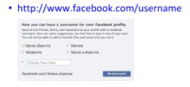 Facebook for business means get your own your Facebook username for future marketing