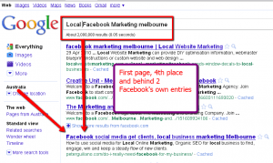 Search Engine Marketing Firm gets first page results on Google