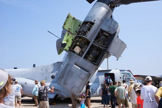 The engine nacelle on an Osprey VTOL/STOL plane.