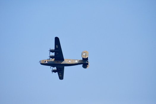 "B-24 ""Diamond Lil"" in flight"
