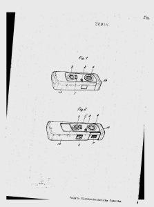 "Drawings from Finish patent № 20056, entitled ""Rullfilmkamera"" (1/3)."