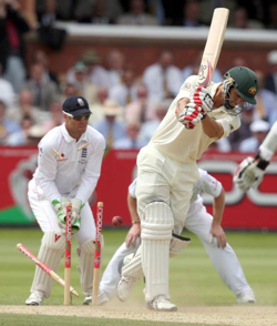 England defeat Australia by 115 runs at Lord's (20th July 2009). The first such victory in 75 years.
