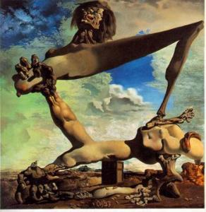 Soft Construction with Boiled Beans (Premonition of Civil War) - Salvador Dali - 1936