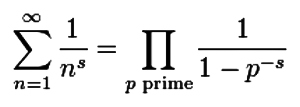 Euler's product formula for the Riemann Zeta function