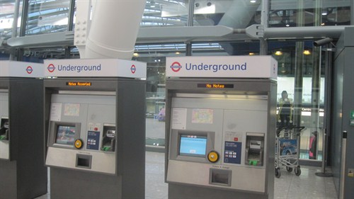 Tube ticket machines