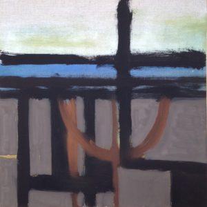 'Sutton Hoo 2' Oil on linen 50 x 50