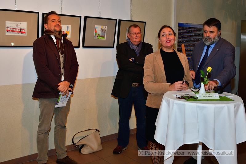 von links: Thomas Wizany, Norbert Leitinger, Ingrid Weydemann und Gottfried Kögler