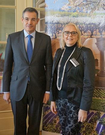 Botschafter Pascal Teixeira da Silva und Corinne Foulquier, Atout France Wien