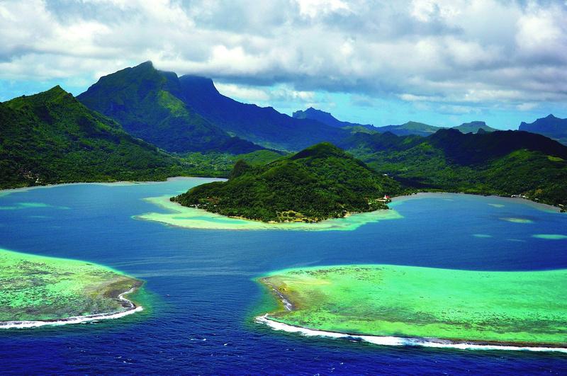 Französisch Polynesien: Taputapuātea &emdash; Taputapuātea - Blick von Te Ava Mo'a © SCP