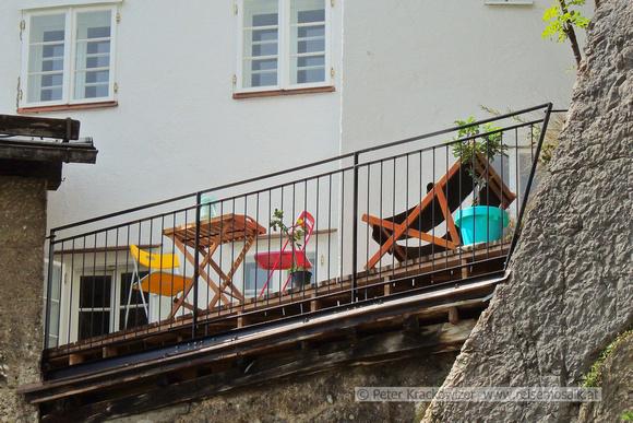 Kleine Stadtidylle über der Steingasse in Salzburg