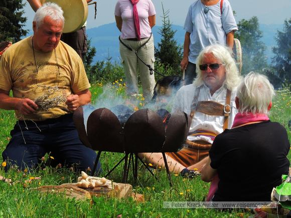 Alpenschamanentreffen 2012 am Johannishögl in Piding, Bayern