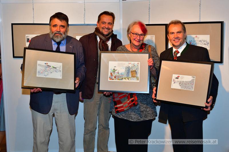 von links: Mag. Göttfried Kögler, Mag. Thomas Wizany, Marianne Schaup und Bürgermeister Wolfgang Wagner;