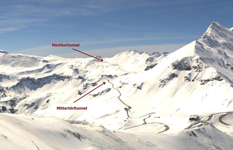 Schneeräumung Großglockner Hochalpenstraße