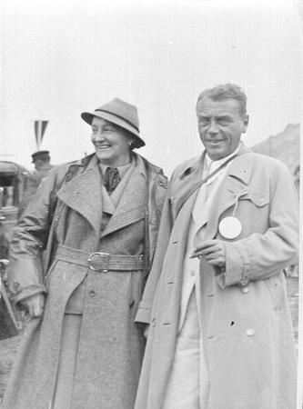 Josefine und Franz Wallack bei der Eröffnung der Großglockner Hochalpenstraße am 3. August 1935