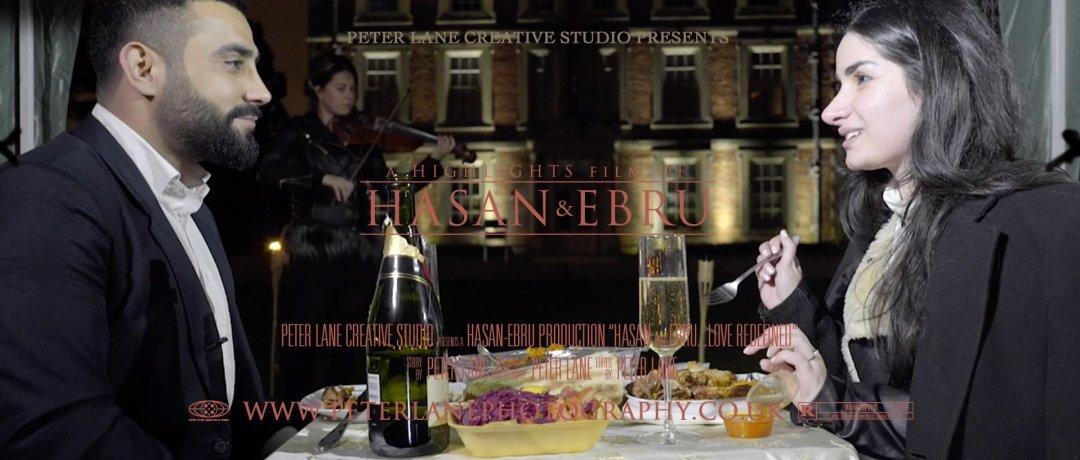 Engagement videographer London wedding cinematic videography