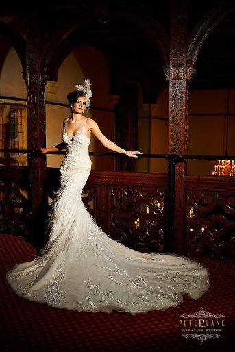 Wedding photographer London Peter Lane bride posing