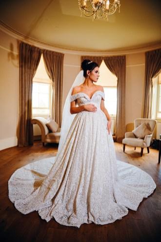 Bride dressed