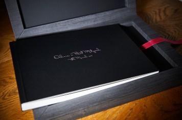 luxury wedding album in black theme