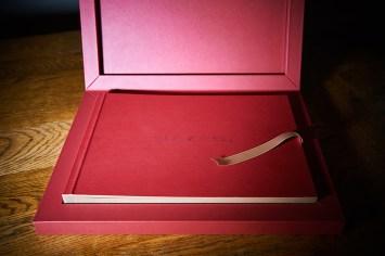 luxury wedding album in red colour