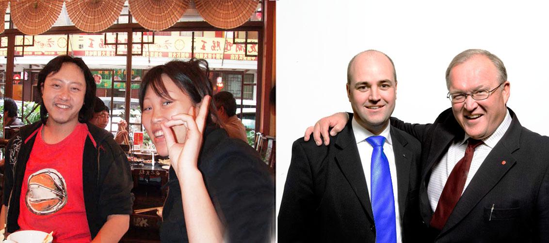 Två av mina vänner i Kina och två vänner i Sverige (men inte mina)