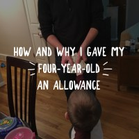 How and Why I Gave My Four-Year-Old an Allowance