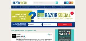Razorsocial Social Media Tools Directory