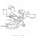 vector-of-a-cartoon-fast-businessman-on-wheels-outlined-coloring-page-by-ron-leishman-18524