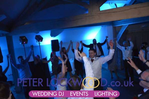 Blue Wedding Uplighting At The White Hart