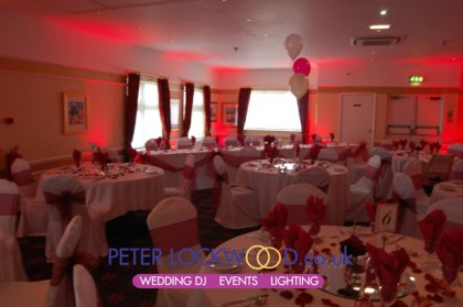 Broadfield Hotel uplighting