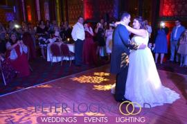 wedding first dance in manchester town hall.