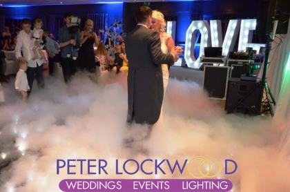 wedding first dance on the clouds