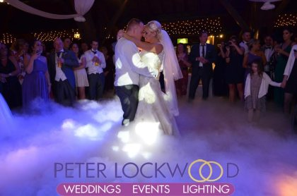 wedding first dance at Rivington Hall Barn