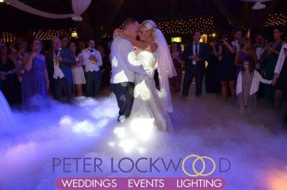 wedding first dance at Rivington Hall Barn