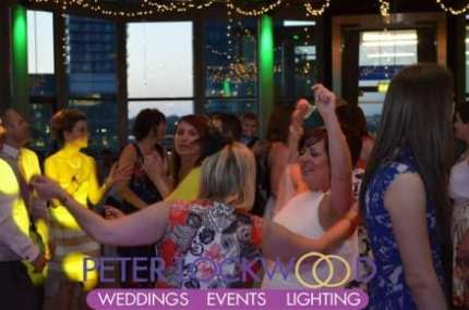 bride-enyoying-her-wedding-disco-in-the-Lowry