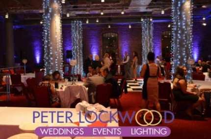 purple-wedding-mood-lighting-and-fairy-lights-on-the-pilars-in-the-place-hotel