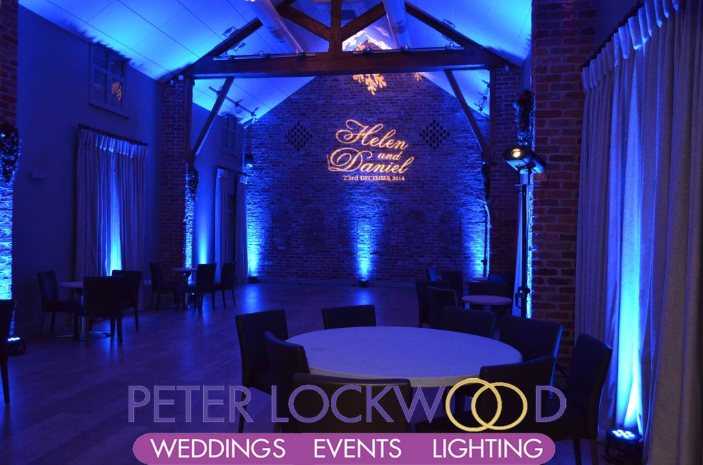 wedding uplighting at arley hall