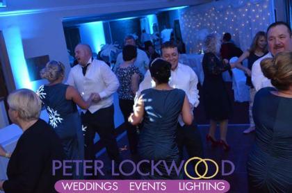 ive blue wedding lighting