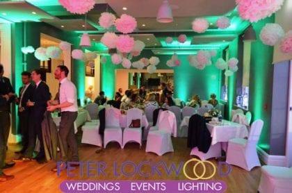 trafford town hall wedding lighting