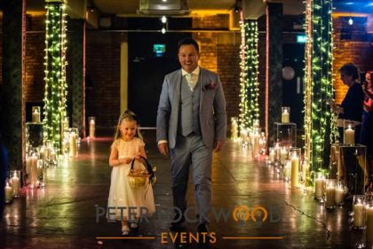 manchester Candle Wedding Aisle hire
