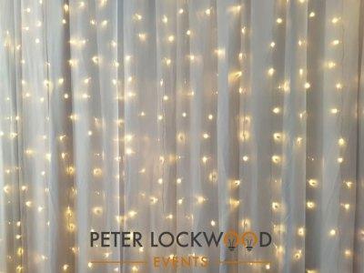 warm white fairy light backdrop