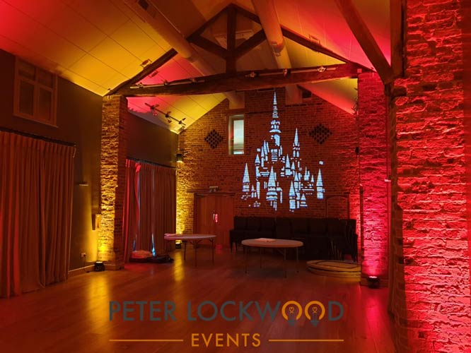 Arley Hall uplighting and Image Projection