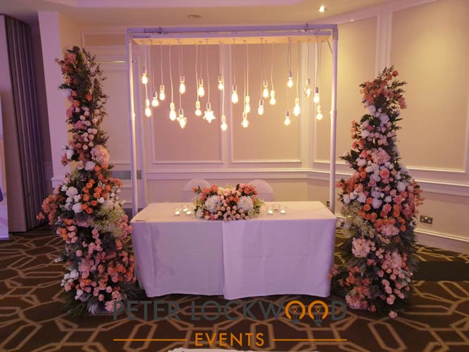 copthorne hotel wedding lighting