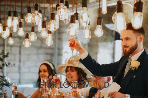 wedding edison lighting