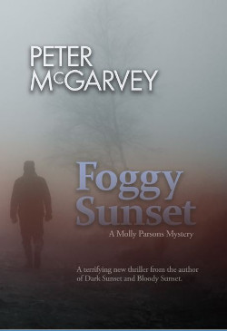 Foggy Sunset Mystery Novel Book Cover