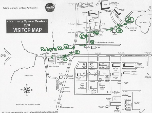 kennedy space center map | PeteCrow / NASA