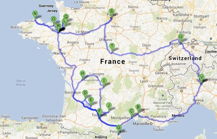 map route june2013