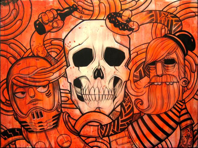 Last night - 2010 - Acrylic on Canvas