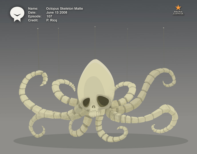 Octopus Skeleton - This was a matte for a the museum in LOSE.
